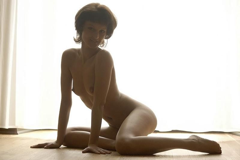 Гибкая тёлка разделась для эротического портфолио